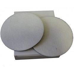 2 disques feutre 130 mm