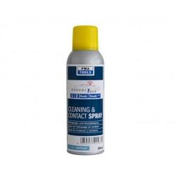 Spray de nettoyage et contact